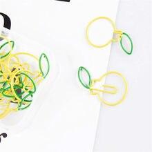 12 pçs/caixa clipes de papel colorido frutas laranja em forma de decoração decorativa para escritório escola artigos de papelaria clipe de papel suprimentos