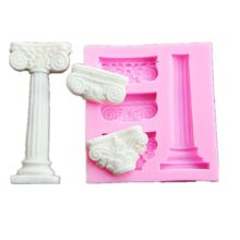 1 pc Roman Column And Relief Fondant Cake Molds Chocolate Mould Baking Sugar for kitchen accessories недорого