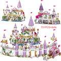 731PCS Prinzessin Serie Castle Bausteine Magische Eis Schloss Bricks Kompatibel Mädchen Freunde Pädagogisches Spielzeug Für Kinder