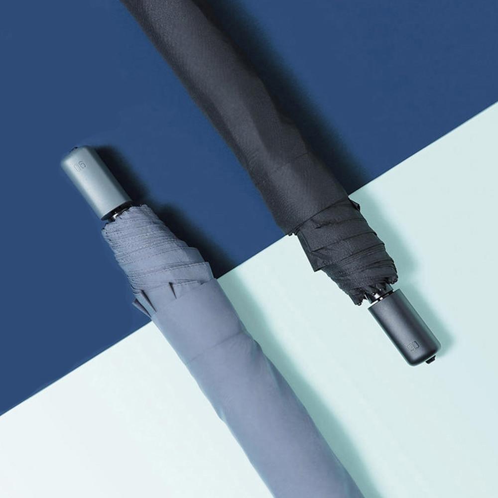 Folding Umbrella Aluminum Alloy Tube Practical Waterproof Non-automatic Rainy and Sunny Umbrellas