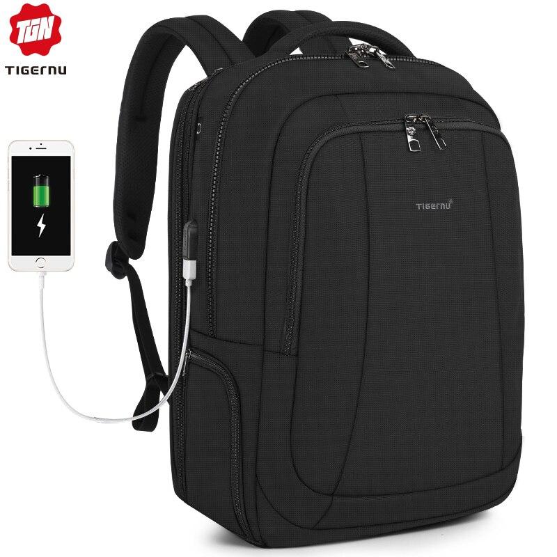 Tigernu 2019 ใหม่แฟชั่น 39L 17.3 นิ้วแล็ปท็อปกระเป๋าเป้สะพายหลังผู้ชาย Anti theft Zippers กันน้ำชาย Schoolbags-ใน กระเป๋าเป้ จาก สัมภาระและกระเป๋า บน   1