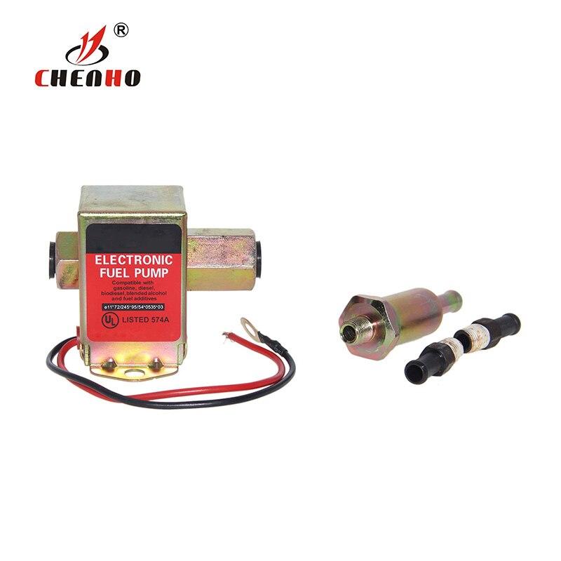 12 v vermelho superior quadrado bomba de combustível elétrica 40104 40106 40107 p502 12 v bomba de combustível de baixa pressão para carburador para F-ORD
