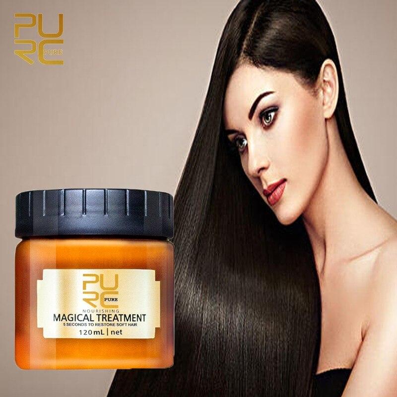 Волшебная маска для волос PURC 120/60 мл, кондиционер для лечения кожи головы, 5 секунд, эффективно восстанавливает повреждения и восстанавливае...