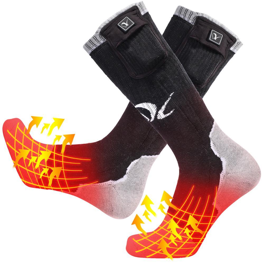 Jour loup nouveau hiver chauffage ski équitation chaussettes hommes et femmes chaud pêche chauffage chaussettes chaudes chaussettes