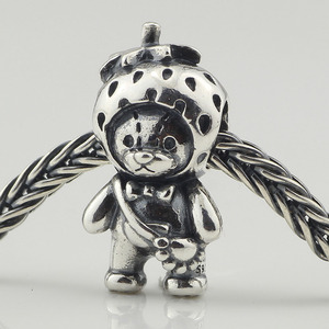 Image 3 - Genuine 925 Sterling Silver Strawberry Bear Charm Beads Fit Original Brand Bracelet Jewelry Vintage Bead for Jewelry Making