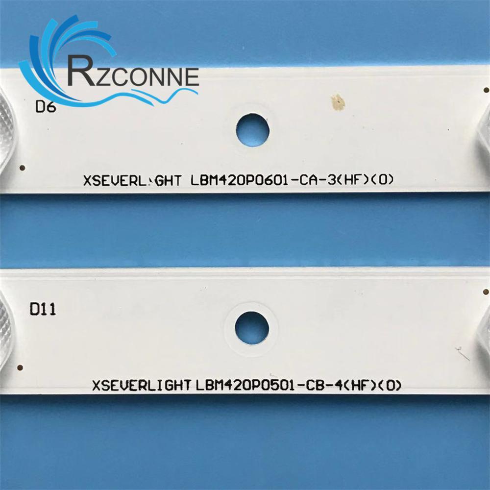 LED backlight strip for EVERLIGHT LBM420P0601-CA-3 LBM420P0501-CB-4 42PFL3208H/12 42PFL3008D/78 42PFL3108K/12 TPT420H2-HVN04