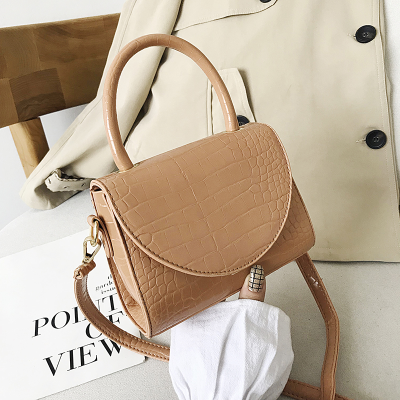 Fashion Crocodile Pattern Crossbody Bags For Women 2019 Chain Handbag Small Bag PU Leather Hand Bag Ladies Designer Evening Bags