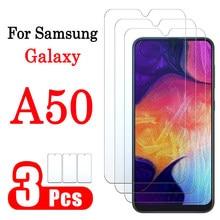Vidro protetor para samsung galaxy a50, vidro protetor temperado para tela 9h 1 a 3 pçs 3 pcs