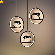 Modern Creative Painting Nordic Pendant Lights Lighting Kitchen Pendant Lamp Led Hanglamp LOFT Decor Light Fixtures Hanging Lamp(China)