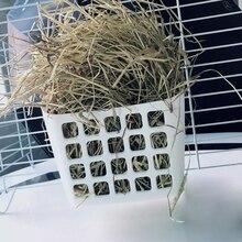 Rabbit Food Feeder Small Animals Rat Hay Rack Manger Chinchilla Cage Bin Bowl P9YB