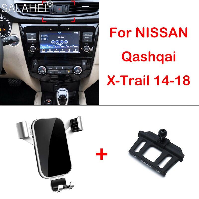 Автомобильный держатель для телефона для Nissan Qashqai J11 2014-2018 держатель телефона на вентиляции, подставка с зажимом для X-trail Rogue T32 Qashqai 2015 2017 2018
