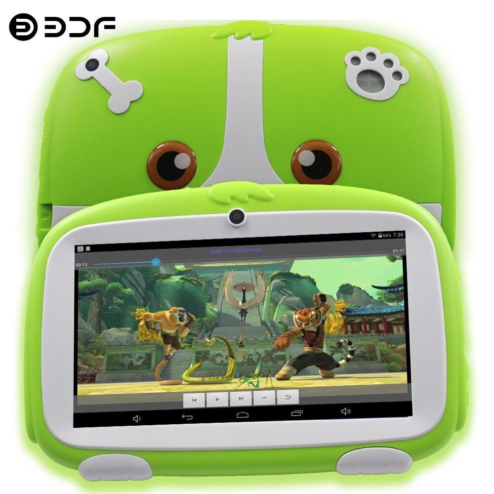 7-дюймовый планшетный ПК с системой андроида ПК WI-FI дети планшеты четырехъядерный процессор Google Play Android 8,0 Bluetooth WI-FI 16G Встроенная память Детск...