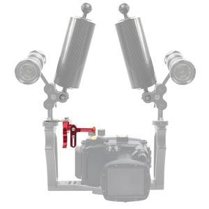 Image 5 - BGNing ayarlanabilir deklanşör tetik uzatma çubuğu spor kamera dalış montaj standı SLR sualtı tepsi adaptörü için Nikon için Canon için