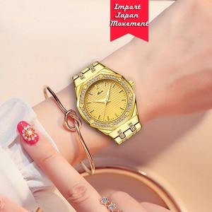 Image 5 - Nowe MISSFOX 18K złote zegarki damskie Top luksusowa marka wodoodporne zegarki kwarcowe damskie Lab Diamond Fashion kobieta godzina zegarowa