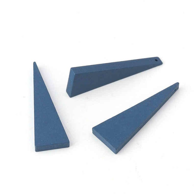 30 Pcs Kayu Pengatur Jarak Manik-manik Geometris Hitam Multicolor Kayu Bead untuk DIY Fashion Perhiasan Membuat 41X14 Mm, lubang: Kira-kira 1.2 Mm
