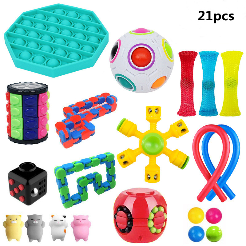 Sensory Toy Set Stress Relief Toy Autism Anxiety Relief Stress squeeze Bubble Antistress img4