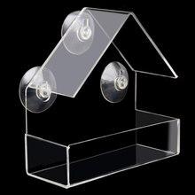 Кормушки для птиц прозрачная присоска хозяйственная птичья птичка оконная кормушка пластиковая корм для домашних животных сады продукты на открытом воздухе творческие