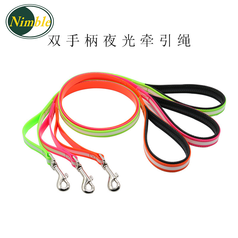 TPU Waterproof Night Light Hand Holding Rope Dog Supplies Traction Belt Dirt Pet Supplies