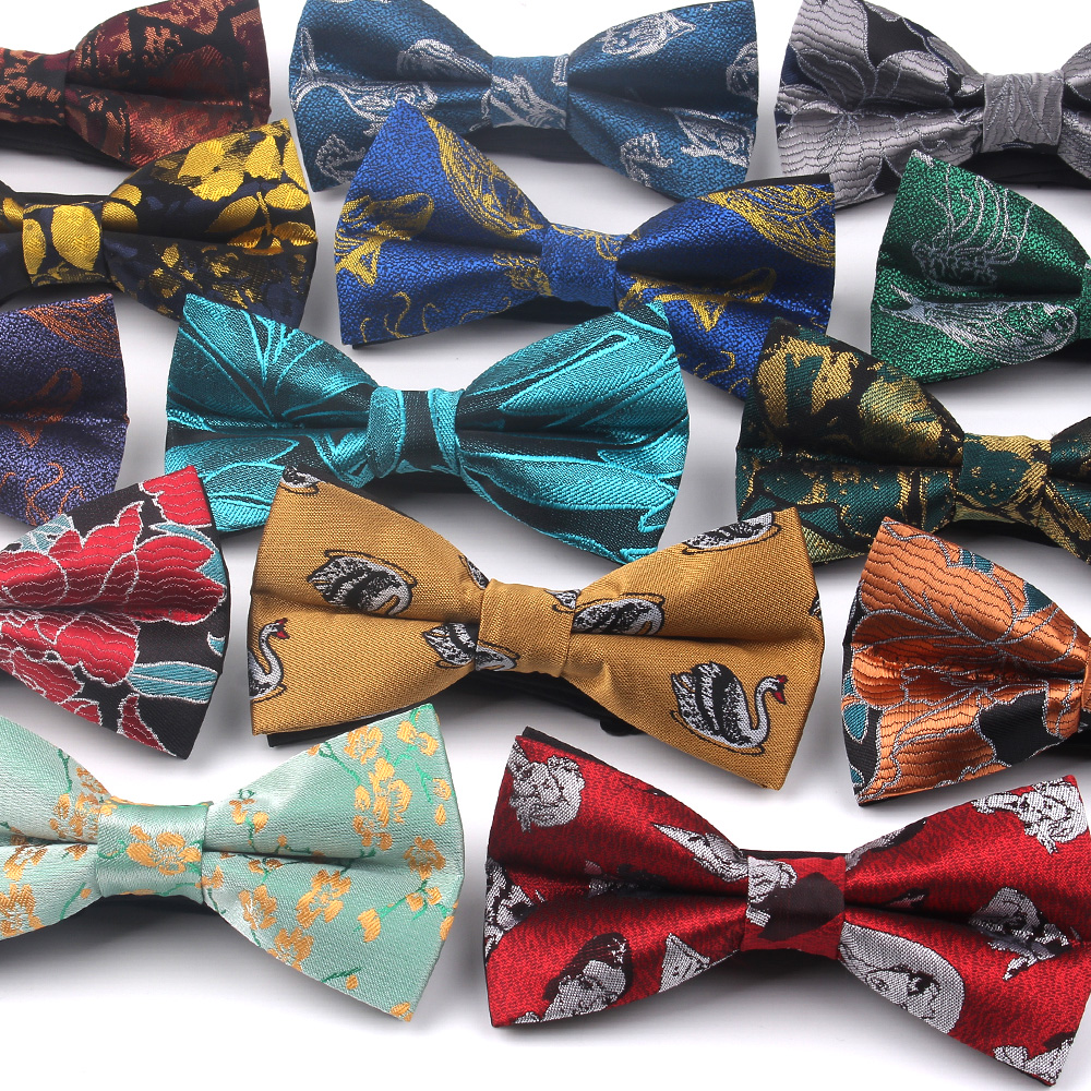 Fashion Men Bow Tie Classic Jacquard Woven Bowtie For Men Business Wedding Adult Floral Bow Ties Butterfly Suits Cravats Bowties