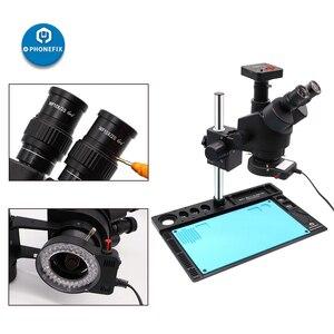 Image 3 - Тринокулярный Стерео микроскоп 3,5x 90X, цифровая видеокамера 14 МП 16 МП 21 МП 38 МП HDMI, микроскоп для телефонной пайки