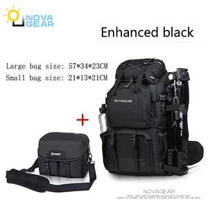 Image 4 - Сумка NOVAGEAR 80302 на два плеча для камеры, водонепроницаемая ударопрочная уличная сумка большой емкости для SLR камеры, подходит для 17 дюймового ноутбука
