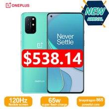 Nieuwe Oneplus 8 T 8 T 5G Global Rom Smartphone 120Hz Vloeistof Amoled Display Snapdragon 865 65W warp Lading Een Plus 8 T Mobiele Telefoon