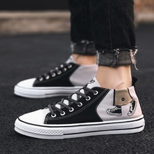Pocket Sichuan Hong New Style Graffiti Men Shoes Korean-style Stylish Casual Shoes-Style Versatile Hight-top Canvas DC81