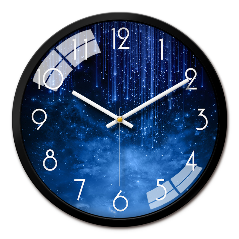 Creative Glass Wall Clock Large Bedroom Wall Watch Modern Design Wall Clocks Decorative Watches Living Room Wall Clocks II50BGZ