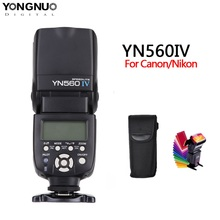 Yongnuo YN560 iv YN560IV 2.4GHZ kablosuz flaş Speedlite alıcı entegre Canon Nikon Olympus Pentax Sony kamera