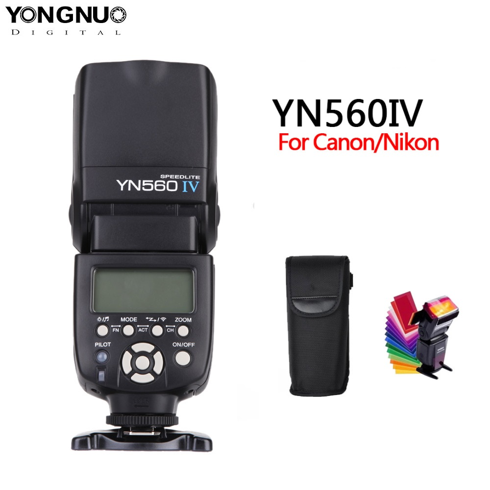 yongnuo YN560 iv YN560IV 2.4GHZ Wireless Flash Speedlite Transceiver Integrated for Canon Nikon Olympus Pentax Sony Camera-in Flashes from Consumer Electronics
