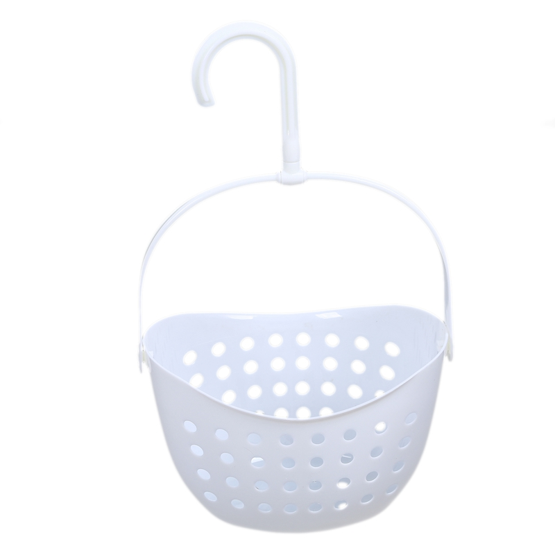 HTHL-3 Tier Plastic Basket Shower Caddy Hanging Rack Tidy Shelf Organiser Storage,White
