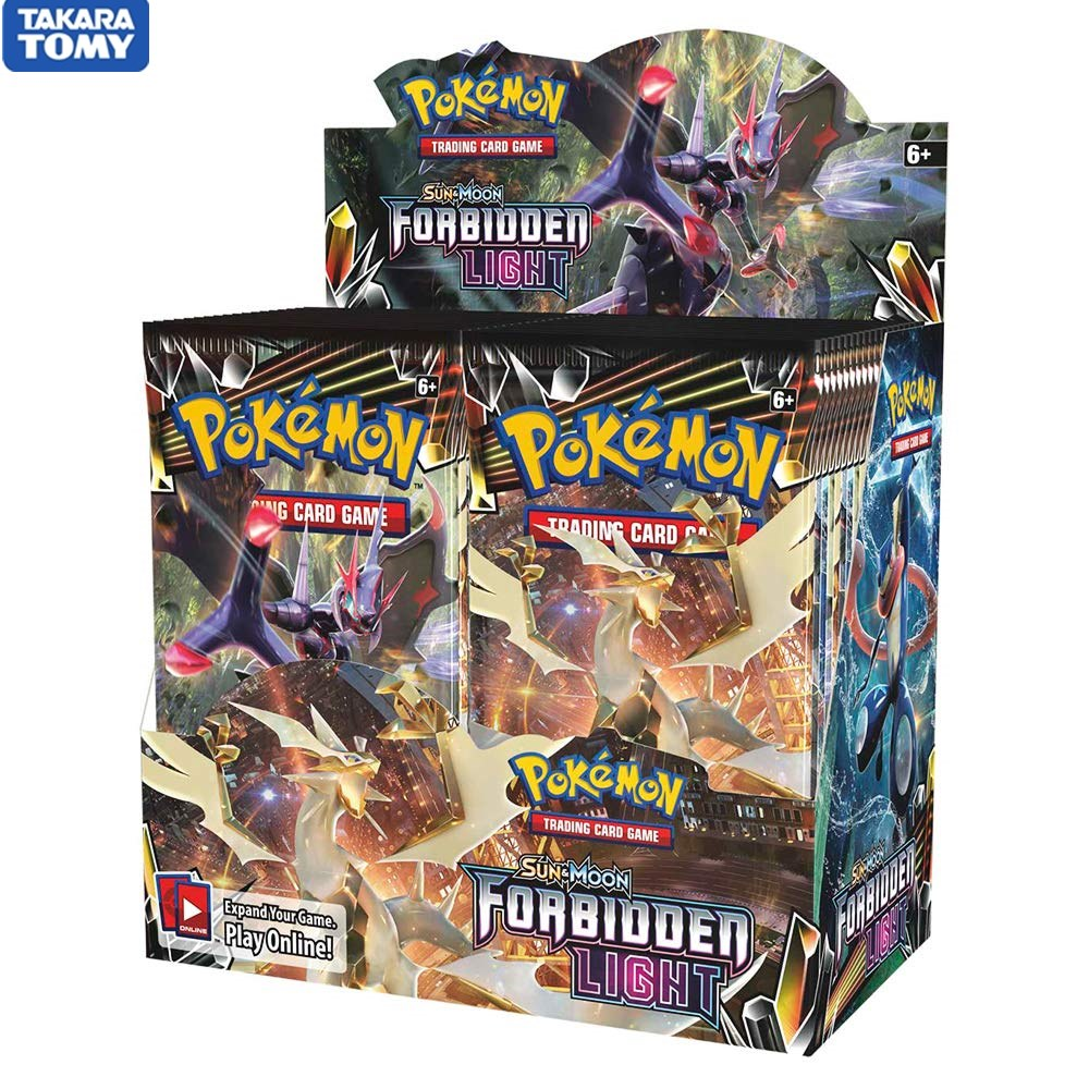 324 Cards Pokemon TCG: Sun & Moon Forbidden Light Booster Sealed Box | Collectible Trading Card Set