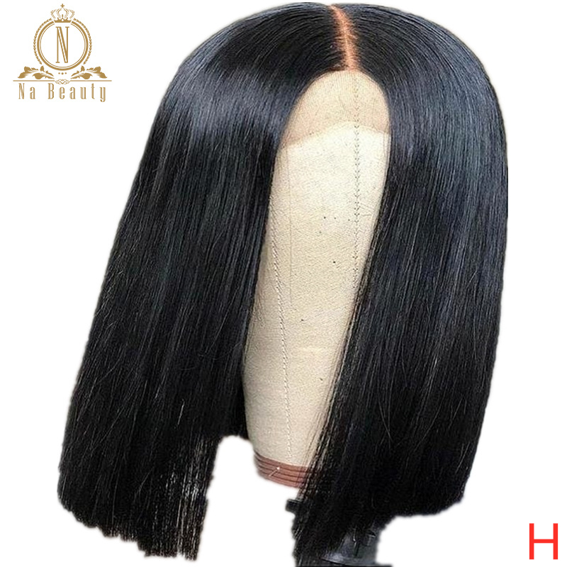 Fake Scalp Wig 13x6 Lace Front Human Hair Wigs For Women Bob Transparent HD Lace Wig Bleached Knots Invisible Lace Nabeauty 150%