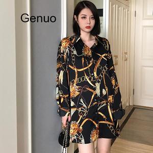 Модные Повседневные Блузки размера плюс для женщин 2020 Весенняя шифоновая блузка с рукавом три четверти свободные топы Рубашки Блузы Mujer