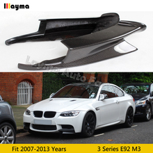 цена на M-Performance style Carbon Fiber Front bumper splitter For BMW 3 Series coupe E92 M3 2008-2013 year car splitter flap cupwings
