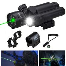 Tactical Hunting Laser Mount Green Dot Laser Sight Rifle Gun Scope 20mm Airsoftsport Rail & Barrel Pressure Switch Mount