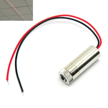 Focusable 650nm 5mw Focus Line Beam w 120° Glass Lens  Red Diode Laser Module Industrial Class focusable 650nm 5mw 3 5v red laser module diode with driver and plastic lens cross shape