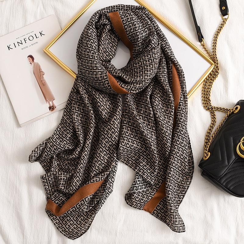 Fashion Design 2020 Women Cotton Long Scarf High Quality Ladies Winter Warm Soft Shawls Wraps Unisex Scarves