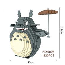 1280-2276 adet 9005-9026 büyük boy blokları Totoro Mini blokları mikro bloklar süper maros DIY bina oyuncaklar model çocuk hediyeler için