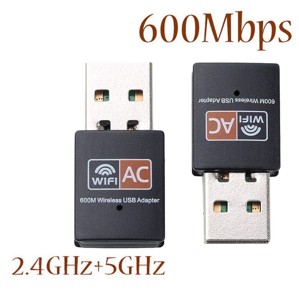 Hot USB WiFi Adapter 600Mbps 2.4GHz 5GHz WiFi Antenne Dual Band 802.11b/n/g/ ac Mini Draadloze Computer Netwerkkaart Ontvanger 1