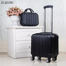 KLQDZMS  18 Inch ABS Colorful Rolling Luggage Set Lightweight Carry On Luggage With Spinner Wheels