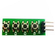 цена на 4 Button Ad Button Module Button Switch for Arduino Analog Electronic Building Block Kc11B04 4-Button Common Cathode Key Module