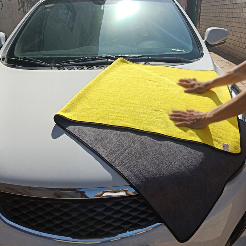 30x30/60/160CM Microfiber Towel Car Oversized Car Cleaning Drying Cloth Hemming Car Care Cloth Detailing Car Wash Never Scratch