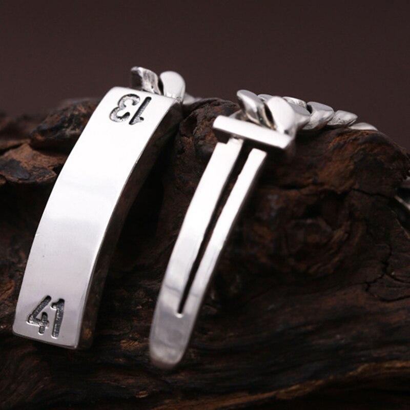 925 argent sterling mode tendance bijoux personnalité hommes et femmes Thai argent bracelet couple argent bracelet étudiant chaîne - 3