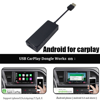 Universal Link Dongle Navigation Player Supports GPS USB 5V Black iPhone Android Auto Link Dongle MP5 Player for Apple CarPlay image
