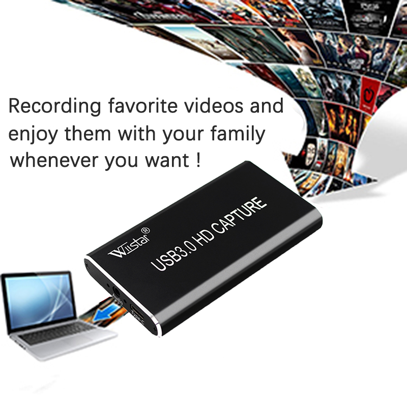 USB 3,0 captura de vídeo HDMI a tipo-C USB 3,1 HD 1080P Tarjeta de captura de vídeo para PC TV PS4 juego Stream en vivo para Windows Linux Os X - 4