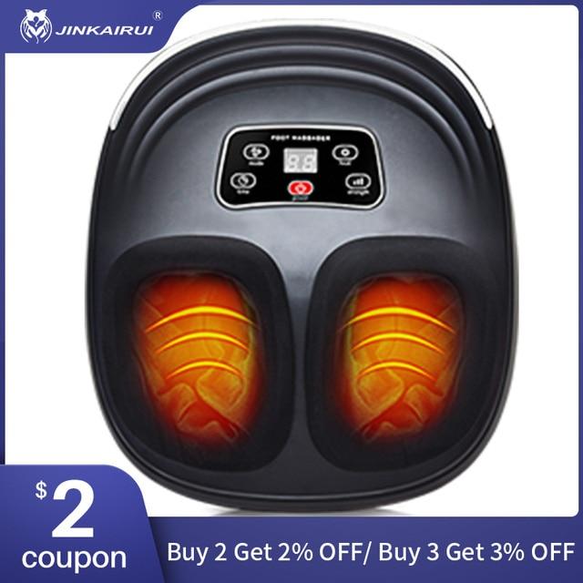 JinKaiRui Electric Vibrator Foot Massager Shiatsu Kneading Vibrator Massage Machine Infrared Heating Therapy Health Care Device