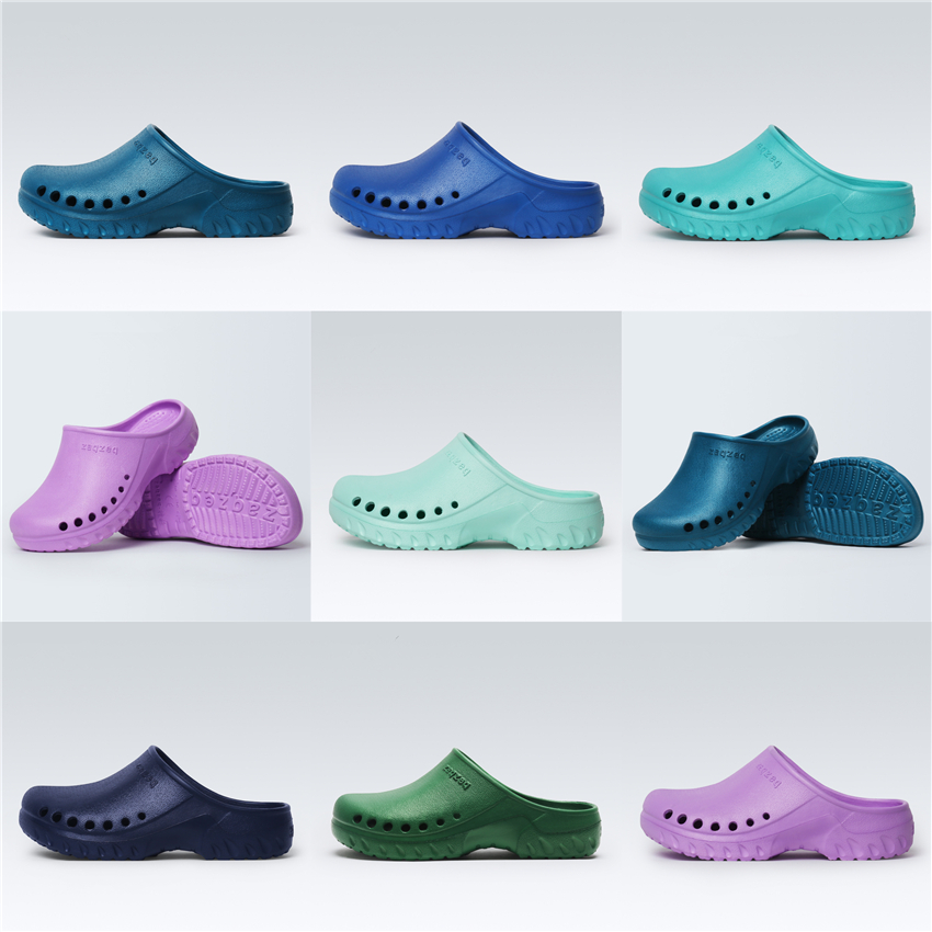 7Color Medical Shoes Scrub Accessories Hospital Doctor Nurse EVA Solid Non-slip Slippers Surgical Work Wear Accessories
