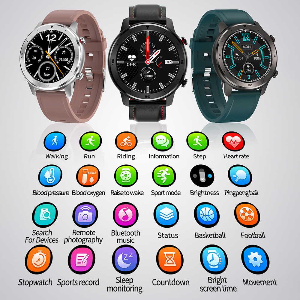 LEMFO كامل مستدير اللمس عرض ساعة ذكية الرجال IP68 مقاوم للماء معدل ضربات القلب ضغط الدم رصد 5 أيام الاستعداد Smartwatch