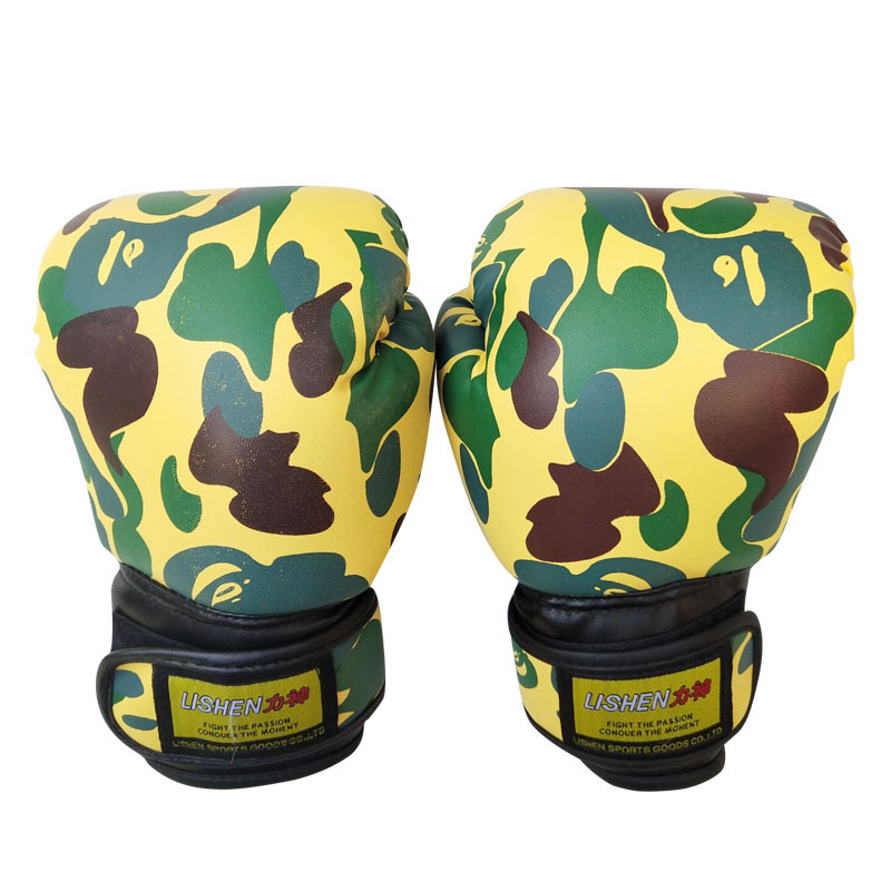 Camouflage CHILDREN'S Boxing Gloves Anti-slip Wearable Sports Training Gloves Taekwondo Sanda Gloves